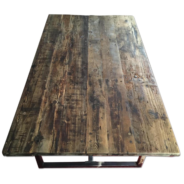 Restoration Hardware Wood Dining Table - image-6