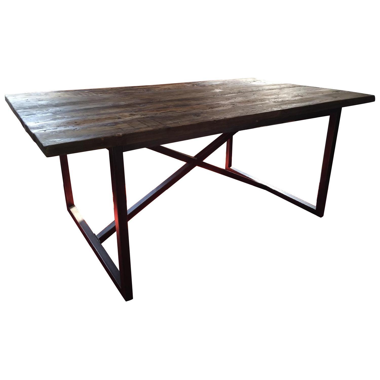Restoration Hardware Wood Dining Table - image-0