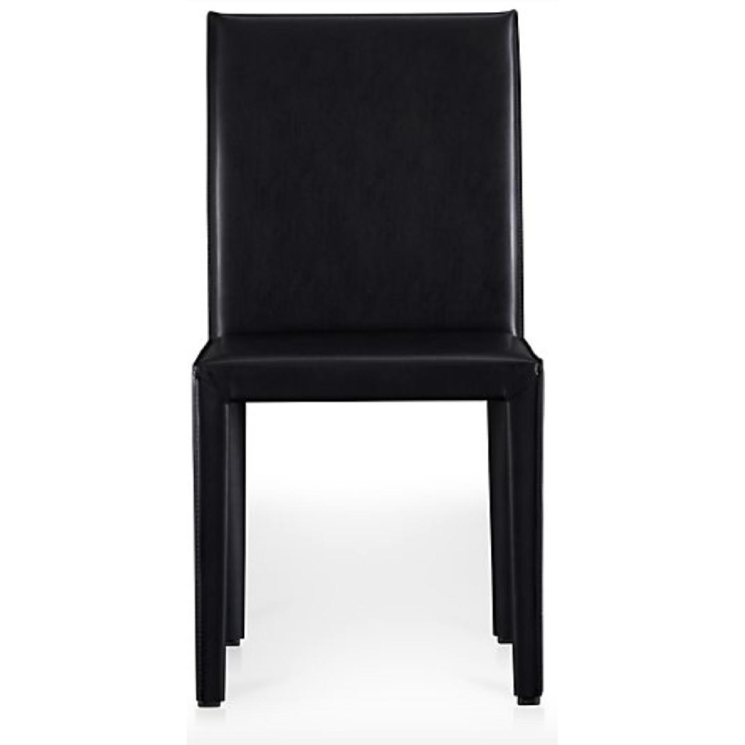 Crate & Barrel Folio Bonded Leather Dining Chair - image-1