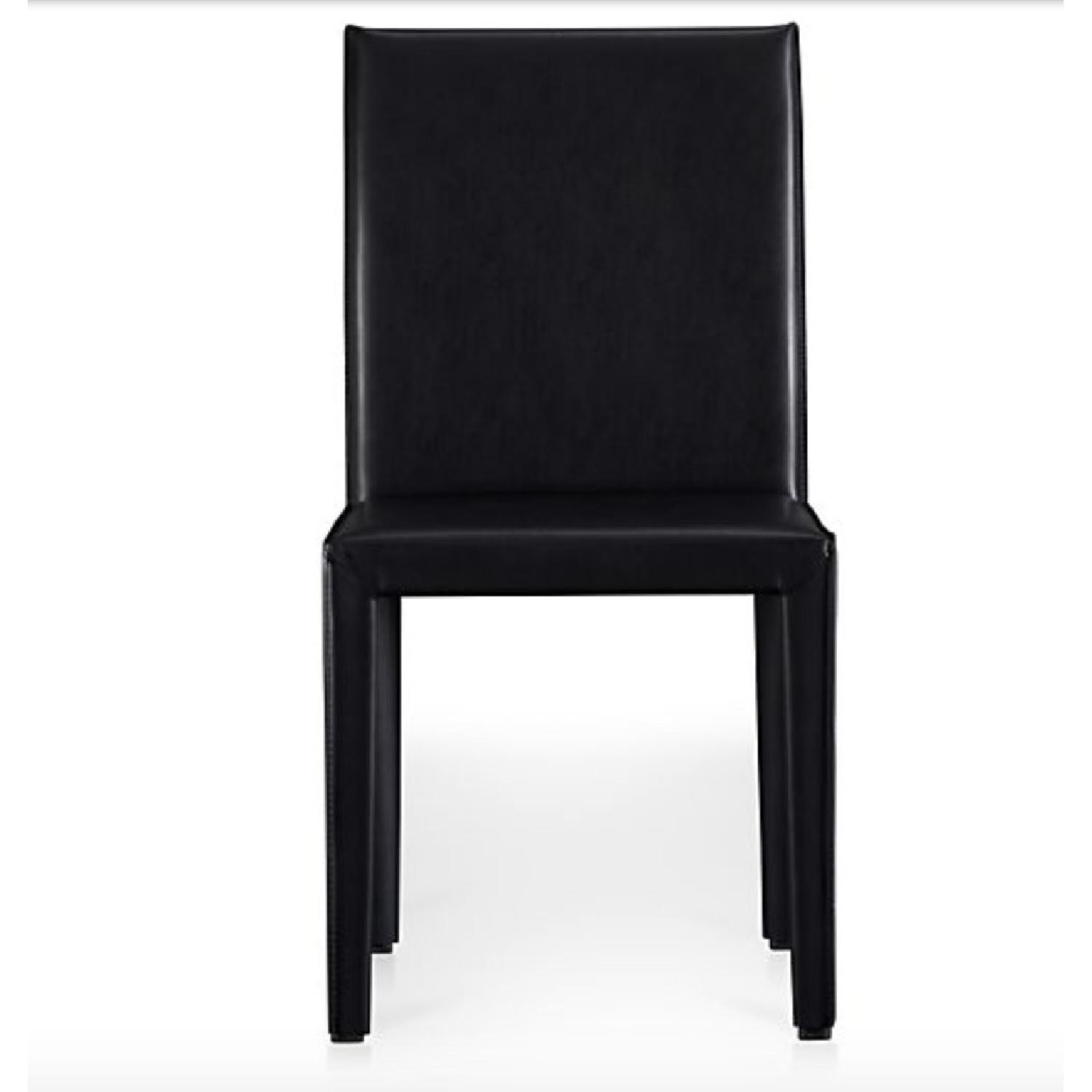 Crate & Barrel Folio Bonded Leather Dining Chair - image-2