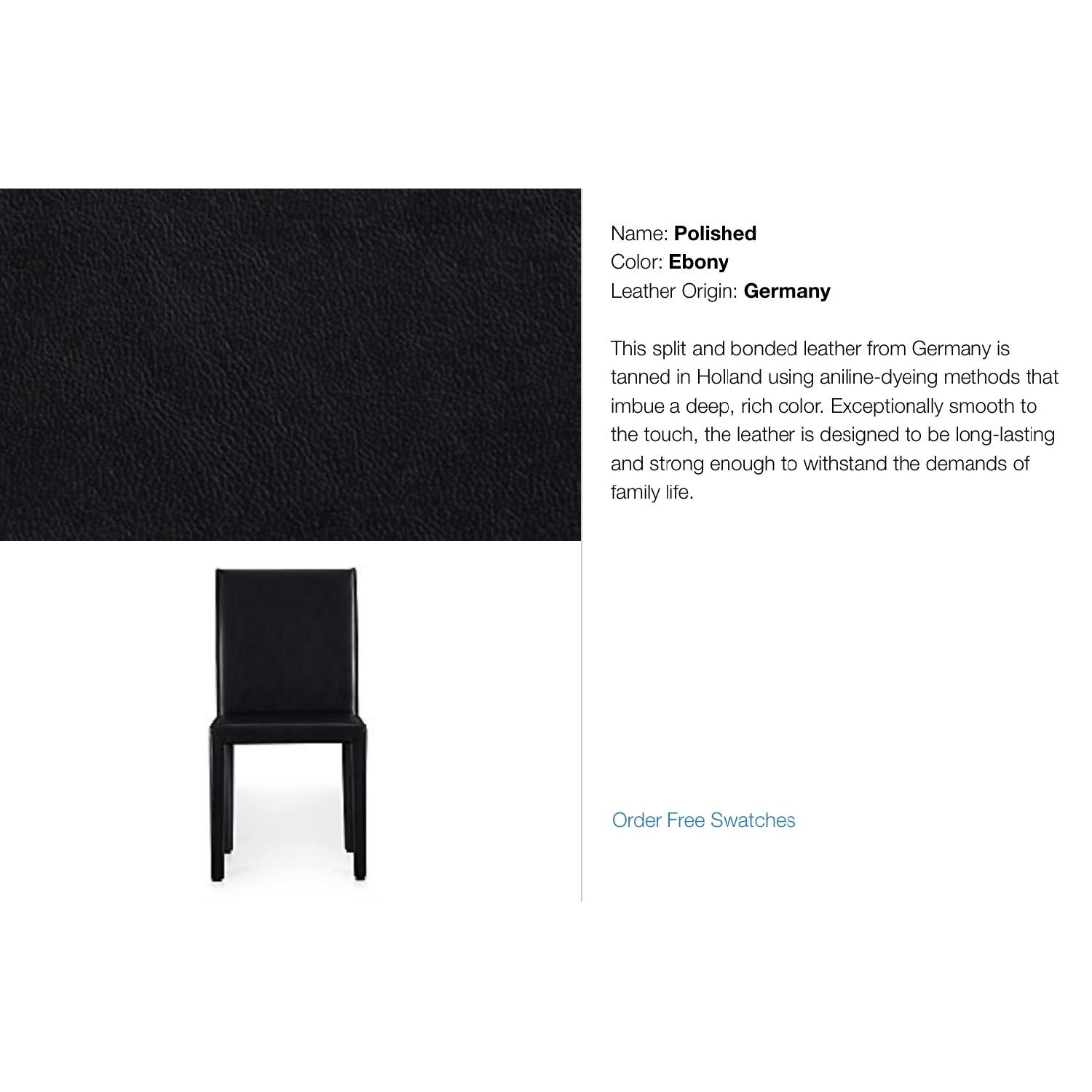 Crate & Barrel Folio Bonded Leather Dining Chair - image-3