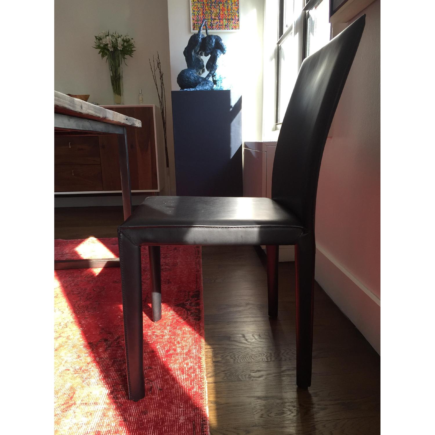 Crate & Barrel Folio Bonded Leather Dining Chair - image-5
