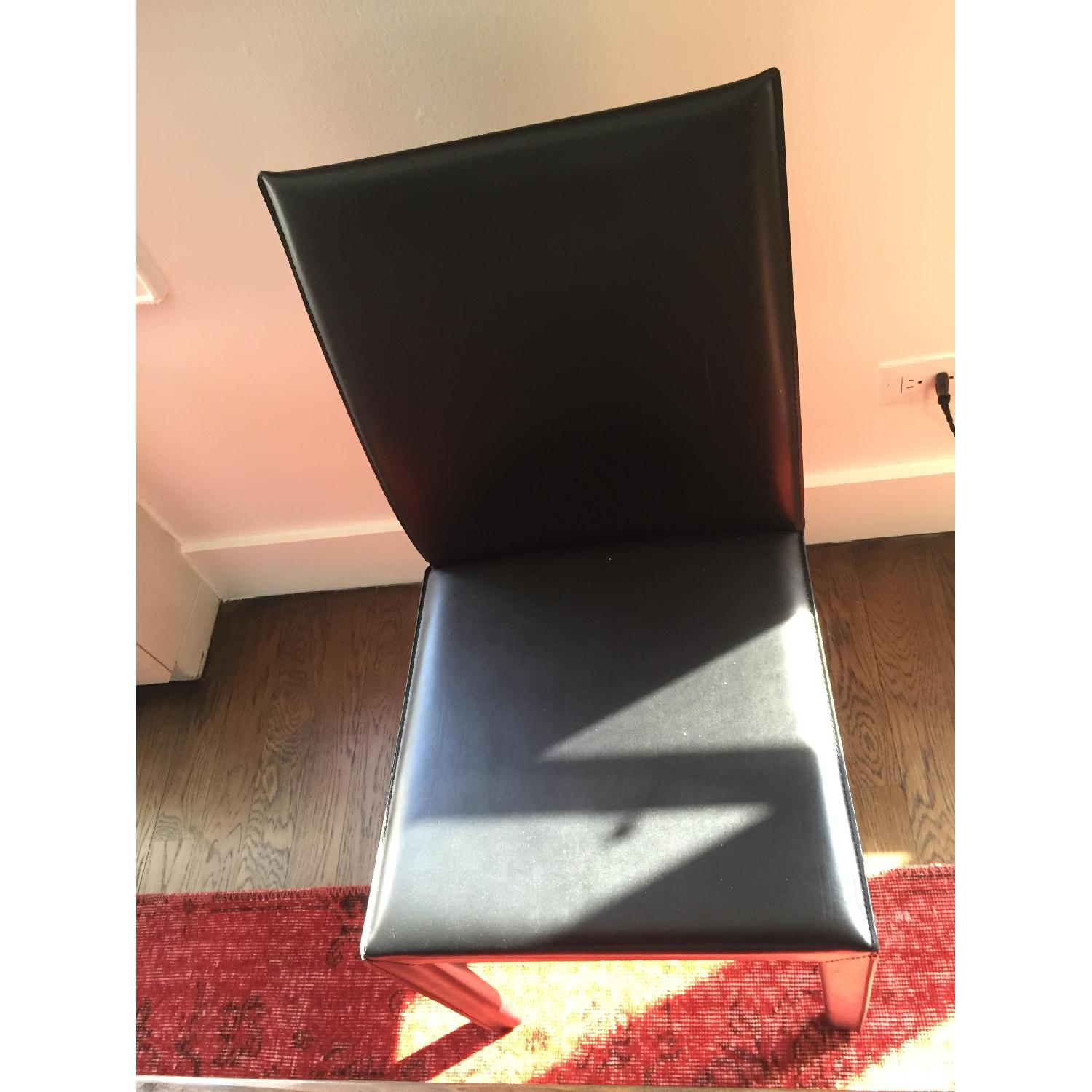 Crate & Barrel Folio Bonded Leather Dining Chair - image-6
