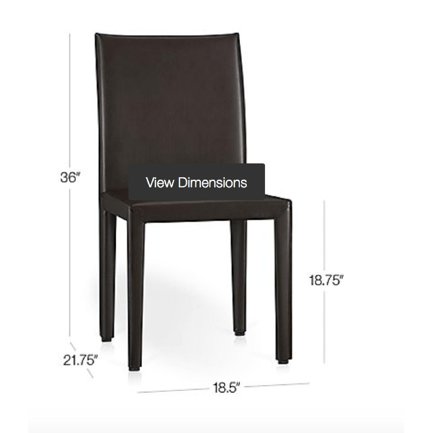 Crate & Barrel Folio Bonded Leather Dining Chair - image-7