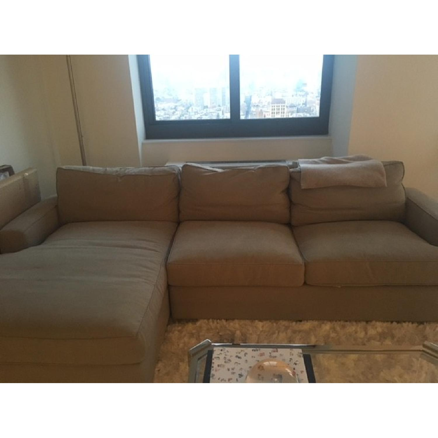 Room & Board Sectional w/ Chaise - image-1