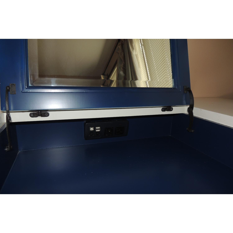 Pottery Barn White Desk & Vanity Charging Station - image-3
