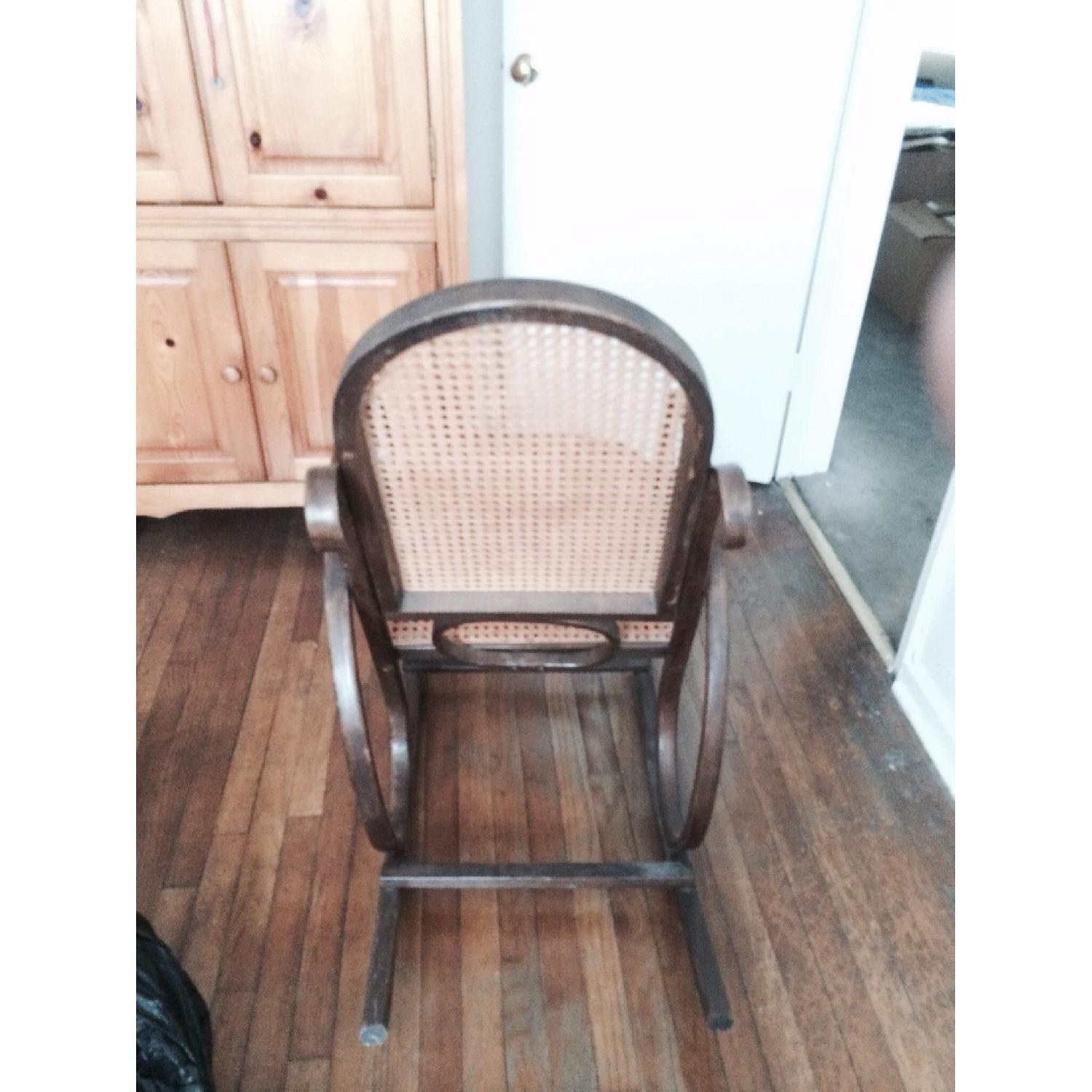 Rocking Wooden Rattan Chair - image-2