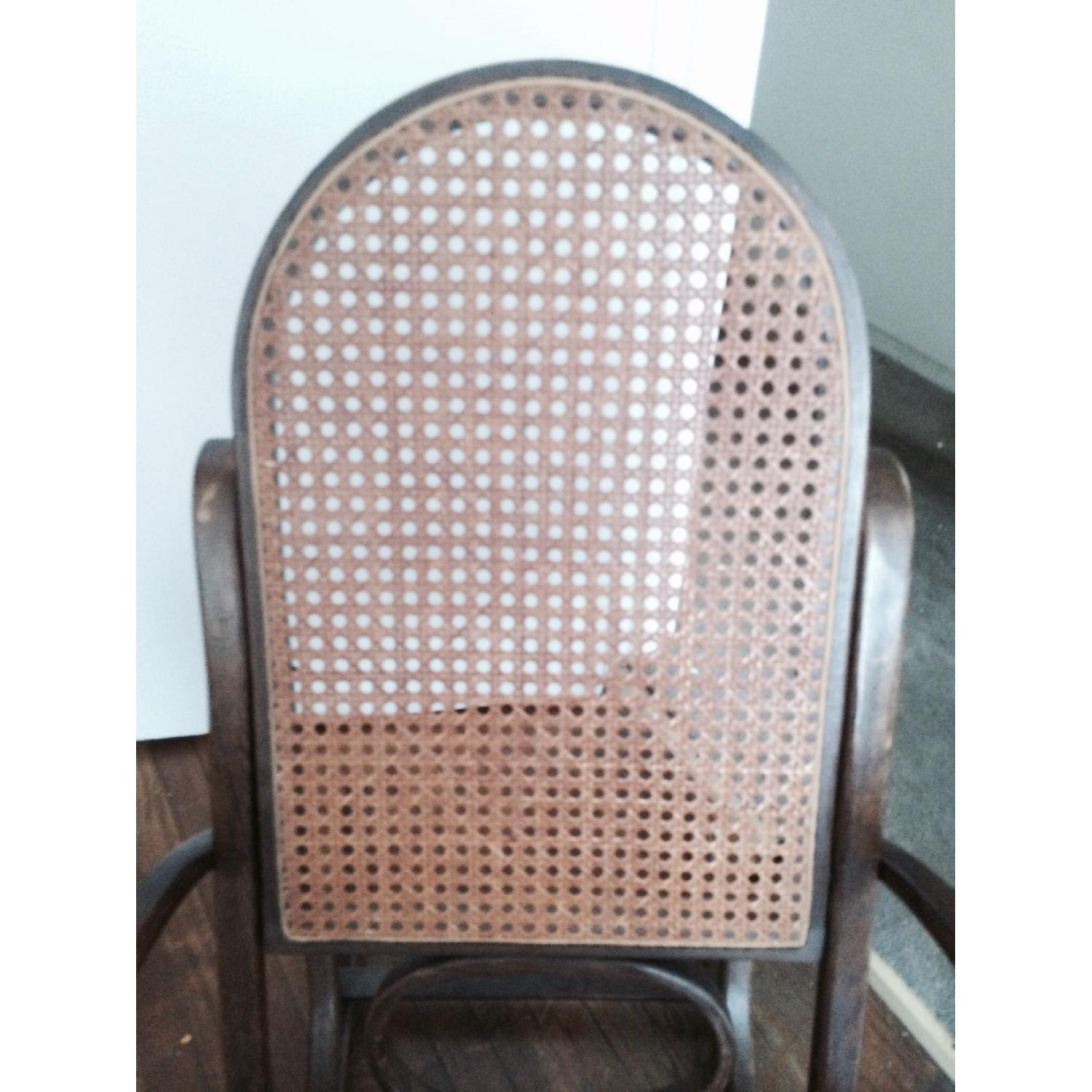 Rocking Wooden Rattan Chair - image-4