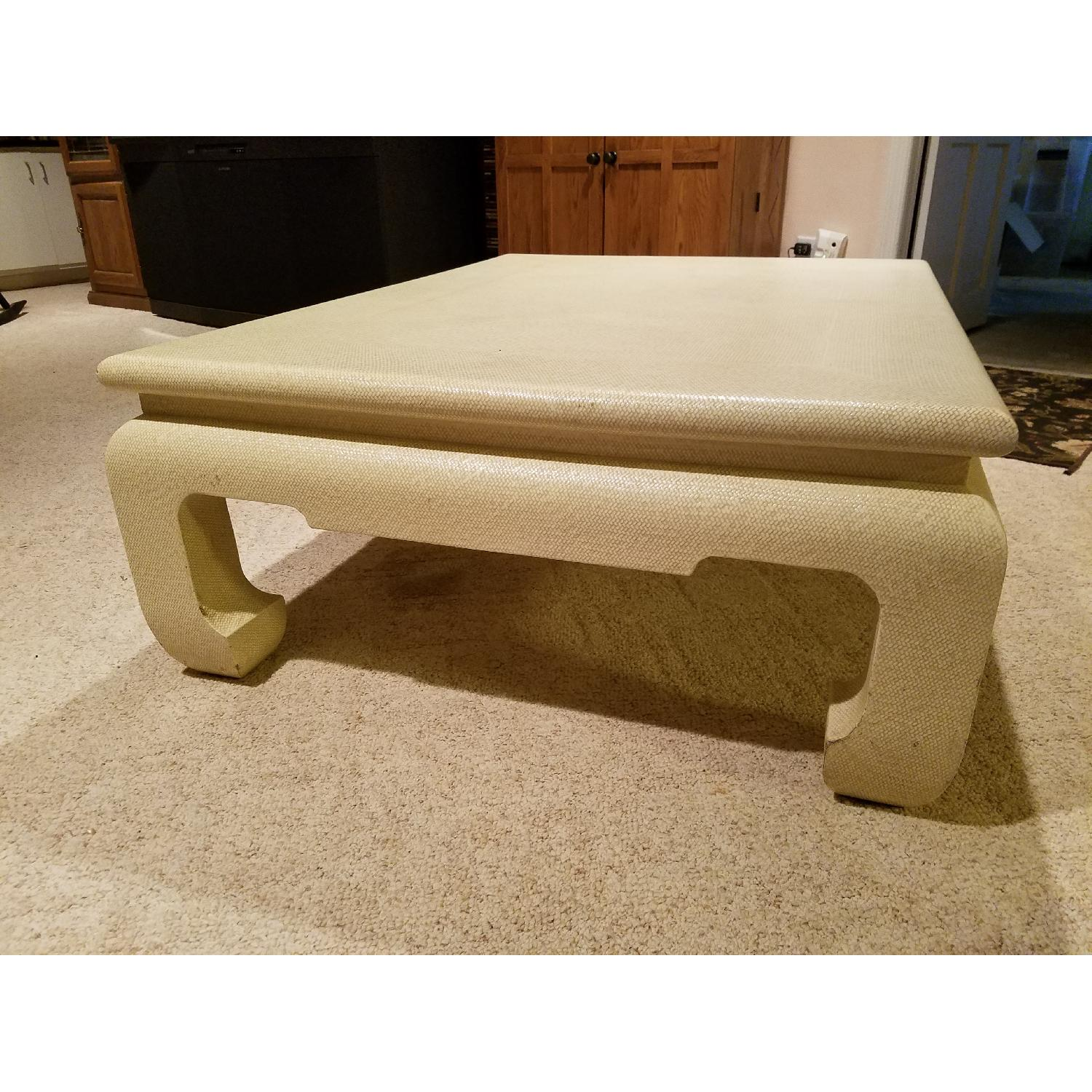 Custom Egg Shell Ming Style Rectangle Coffee Table-0