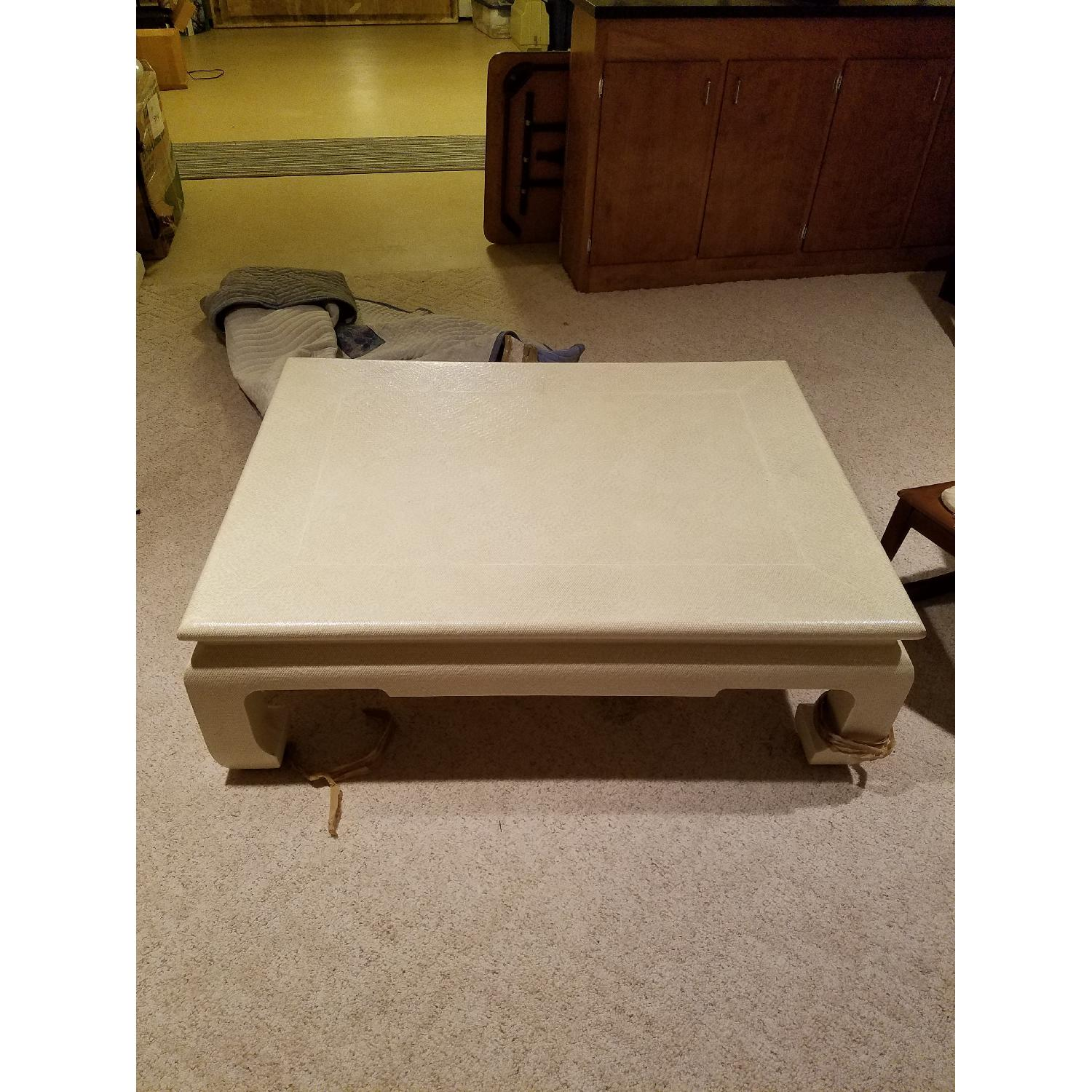 Custom Egg Shell Ming Style Rectangle Coffee Table-1