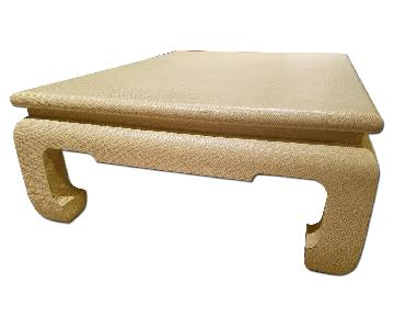 Custom Egg Shell Ming Style Rectangle Coffee Table