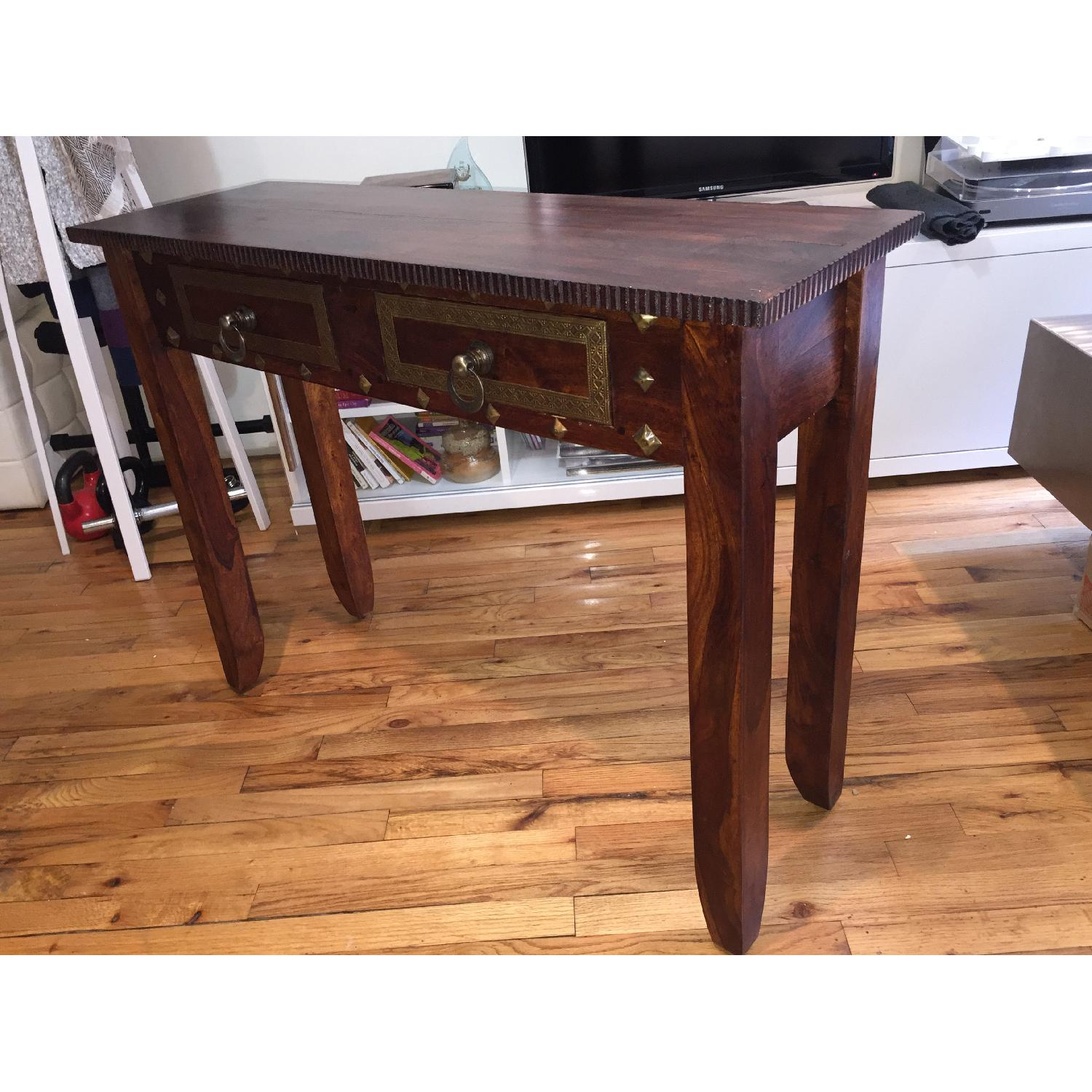 Pier 1 Vintage Heera Indian Handcrafted Console Table - image-2