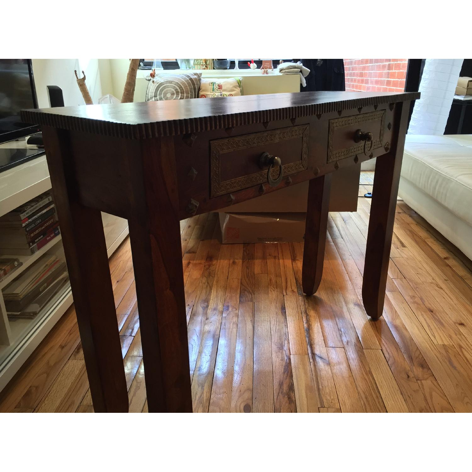 Pier 1 Vintage Heera Indian Handcrafted Console Table - image-3