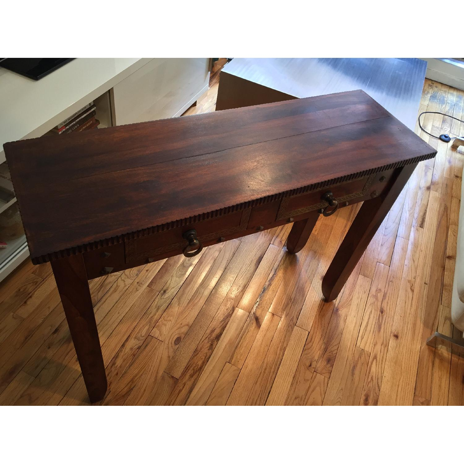Pier 1 Vintage Heera Indian Handcrafted Console Table - image-4