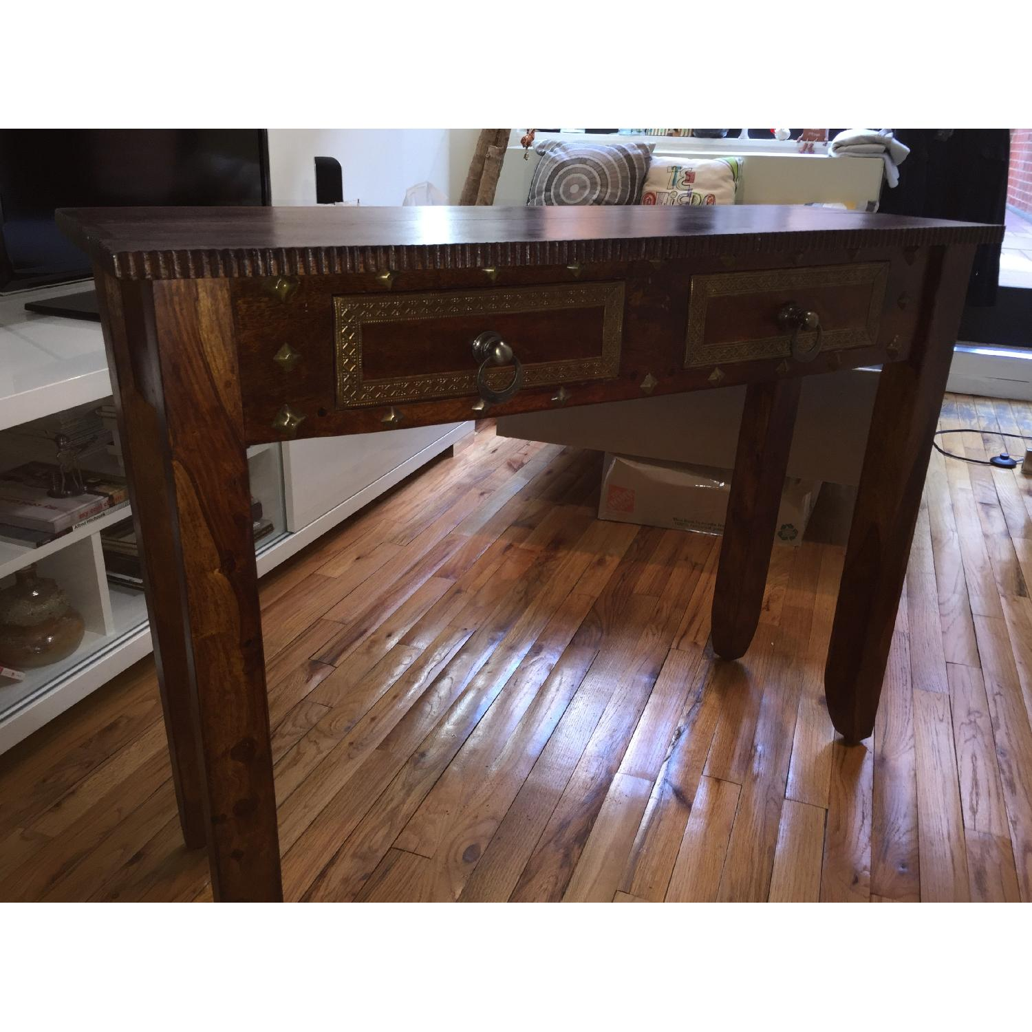 Pier 1 Vintage Heera Indian Handcrafted Console Table - image-5