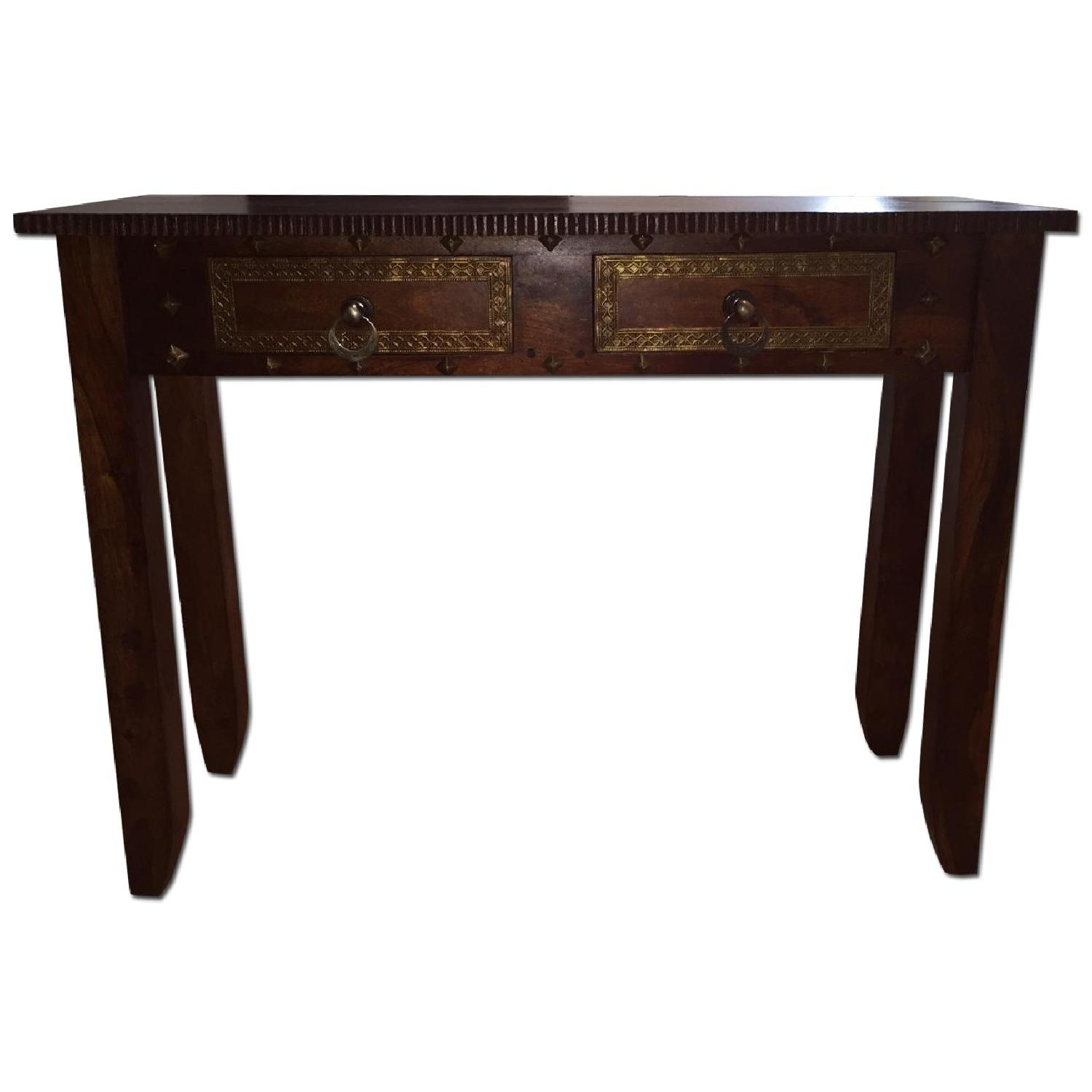 Pier 1 Vintage Heera Indian Handcrafted Console Table - image-0