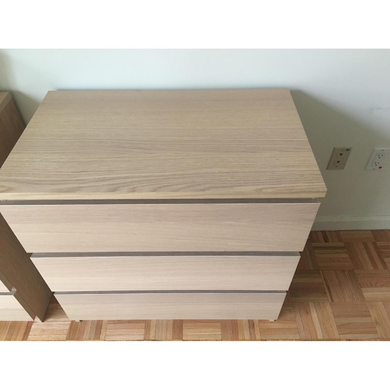 Ikea Malm 3 Drawer Chest in Birch Veneer - image-3