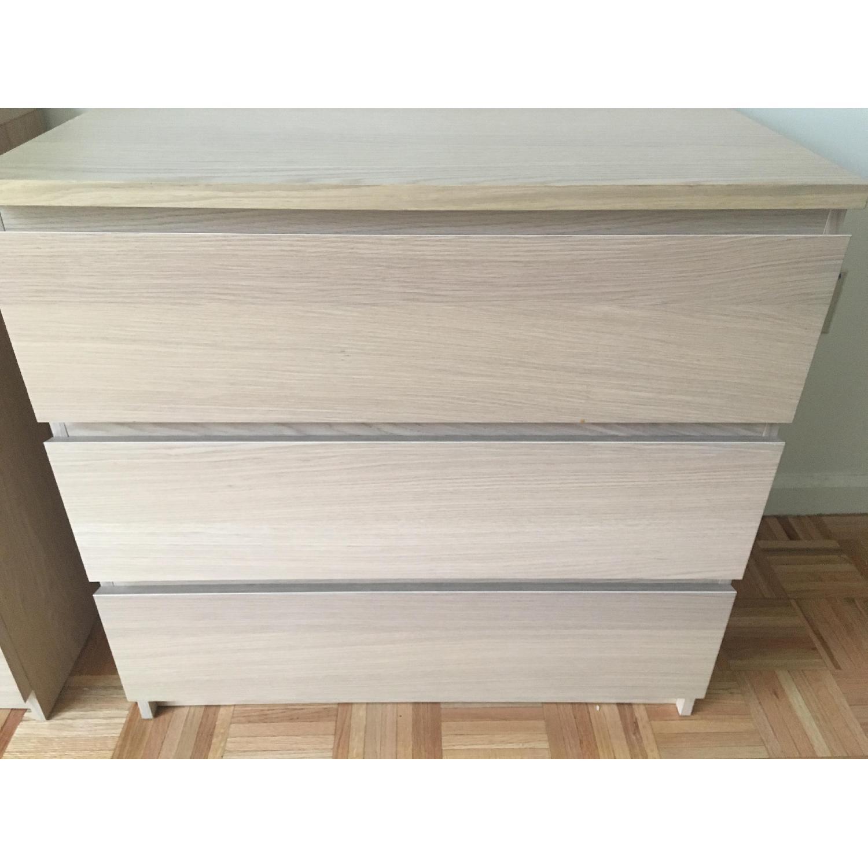Ikea Malm 3 Drawer Chest in Birch Veneer - image-4