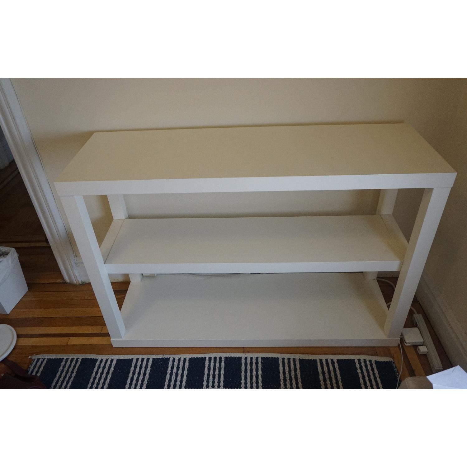 West Elm Parsons Low Bookcase in White - image-1