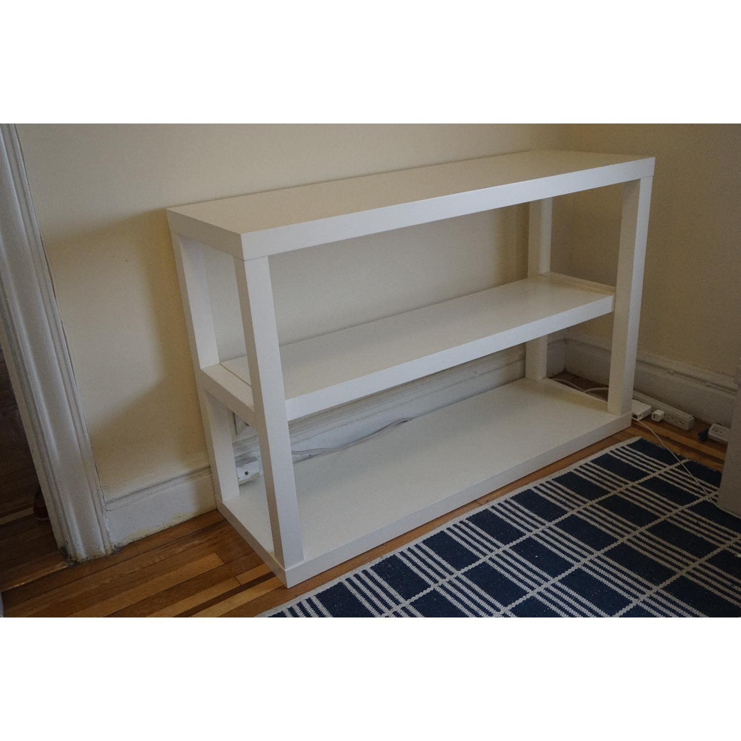 West Elm Parsons Low Bookcase in White - image-2