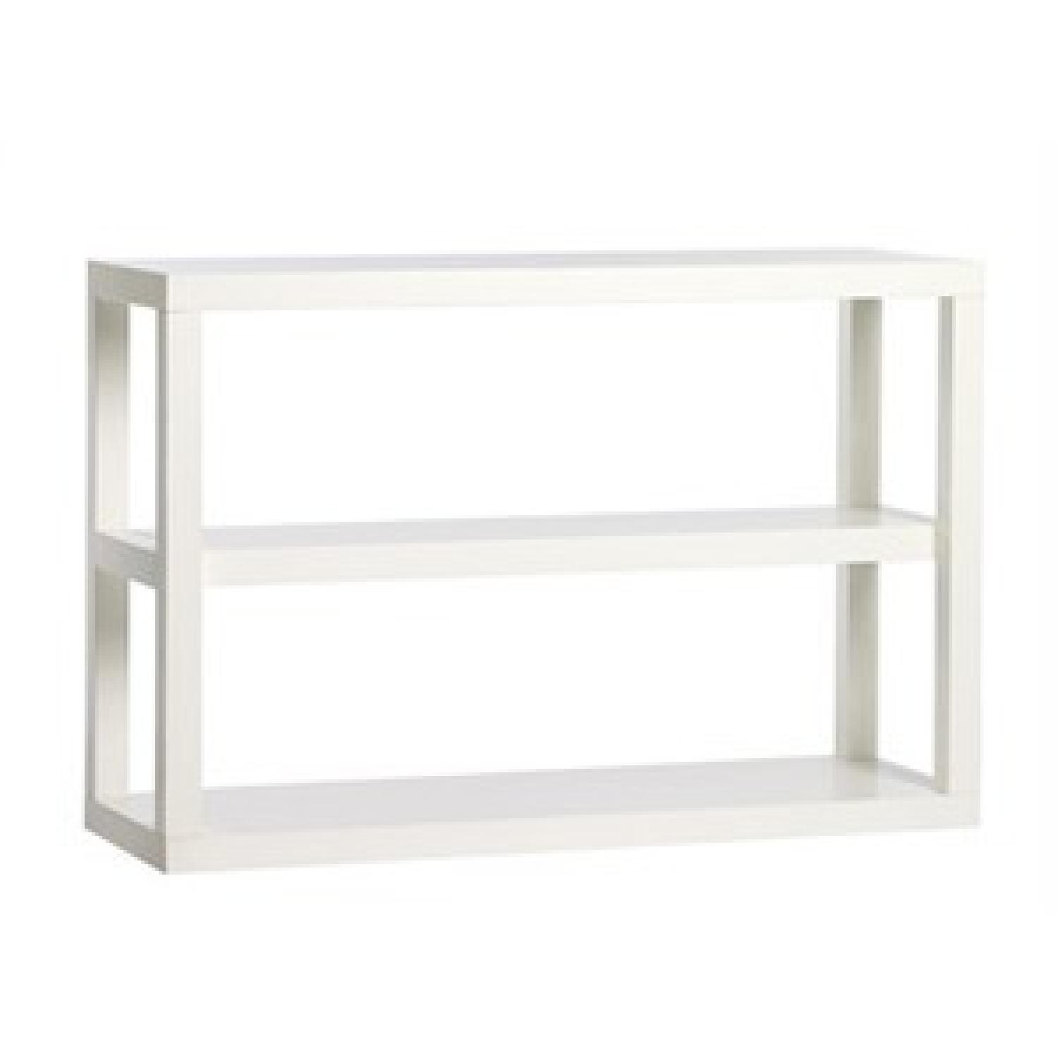 West Elm Parsons Low Bookcase in White - image-3