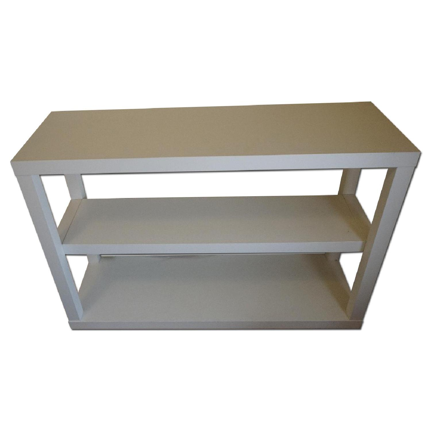 West Elm Parsons Low Bookcase in White - image-0
