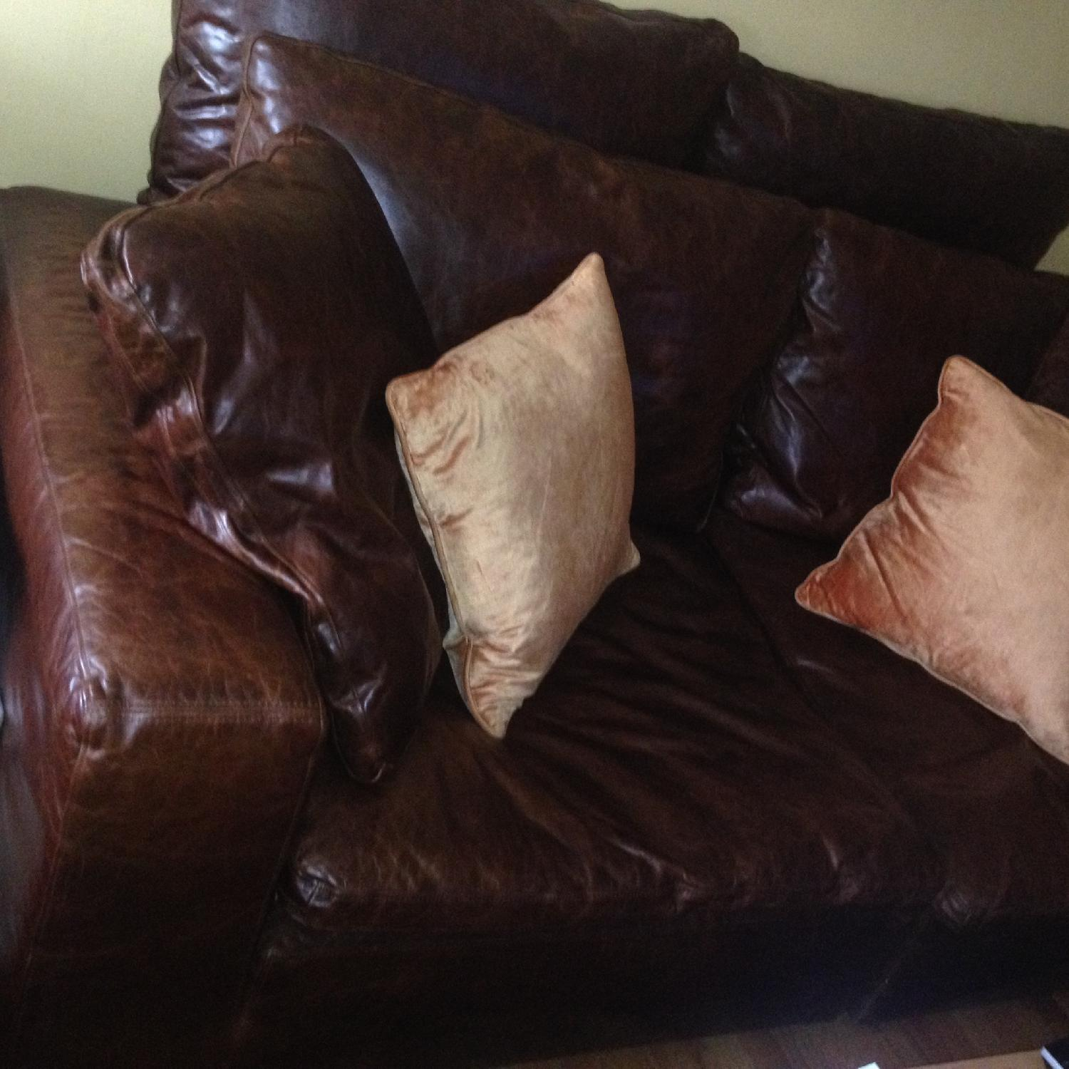 Restoration Hardware Cloud 2 Piece Sectional Sofa in Brompton Cocoa - image-1