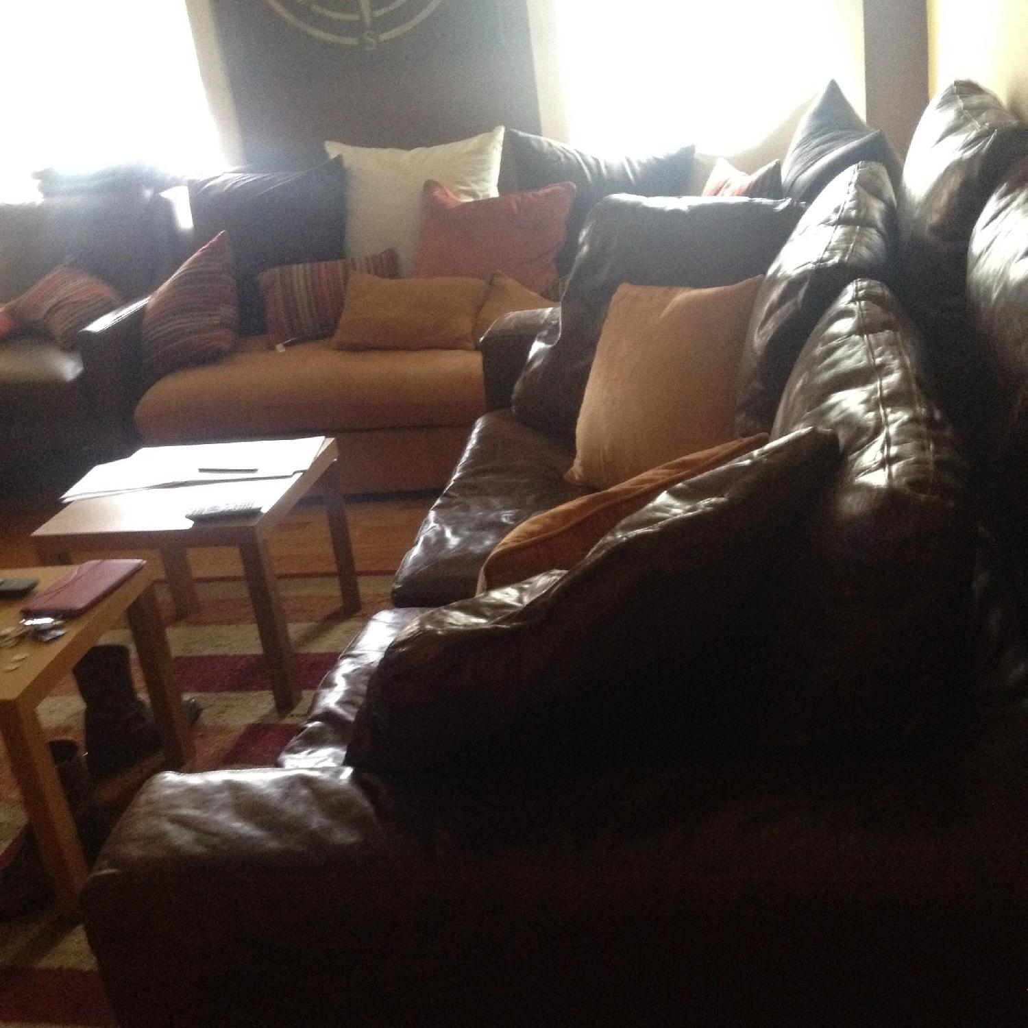 Restoration Hardware Cloud 2 Piece Sectional Sofa in Brompton Cocoa - image-2