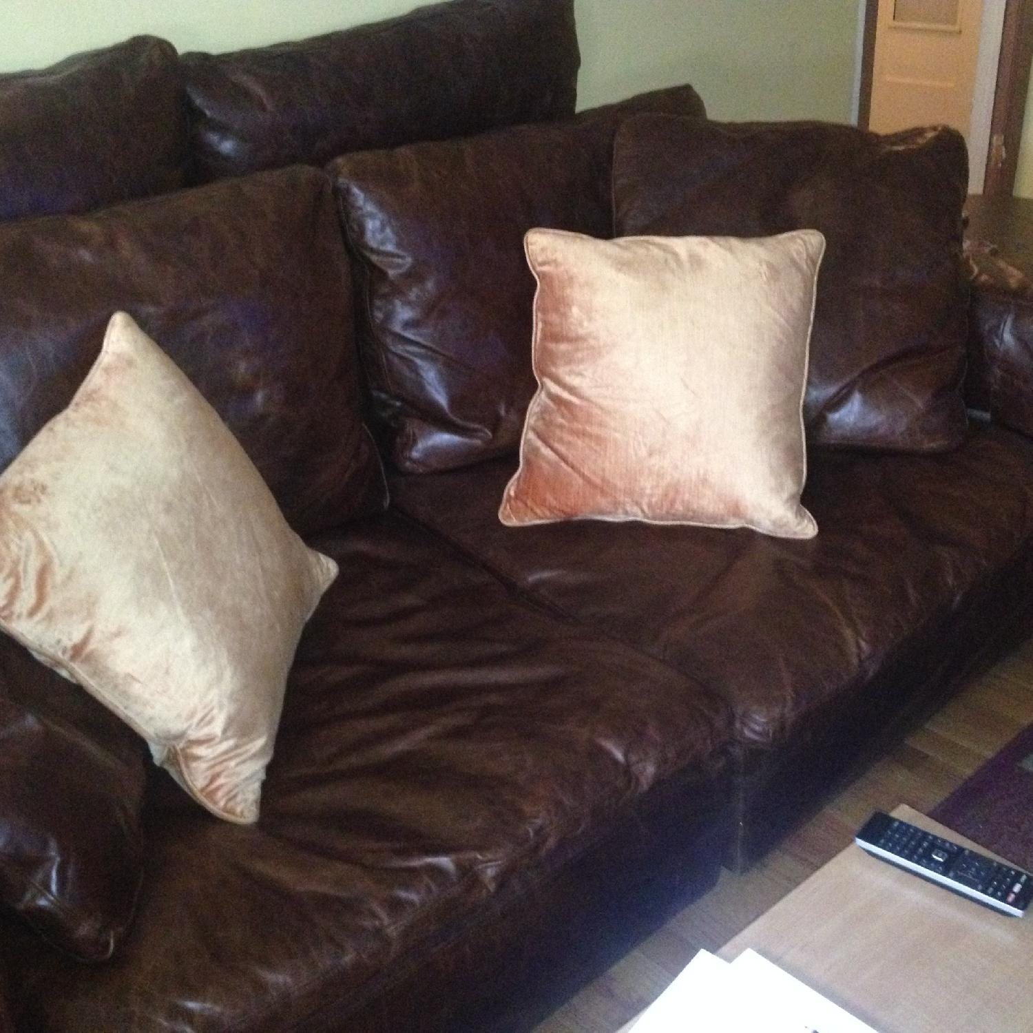 Restoration Hardware Cloud 2 Piece Sectional Sofa in Brompton Cocoa - image-5