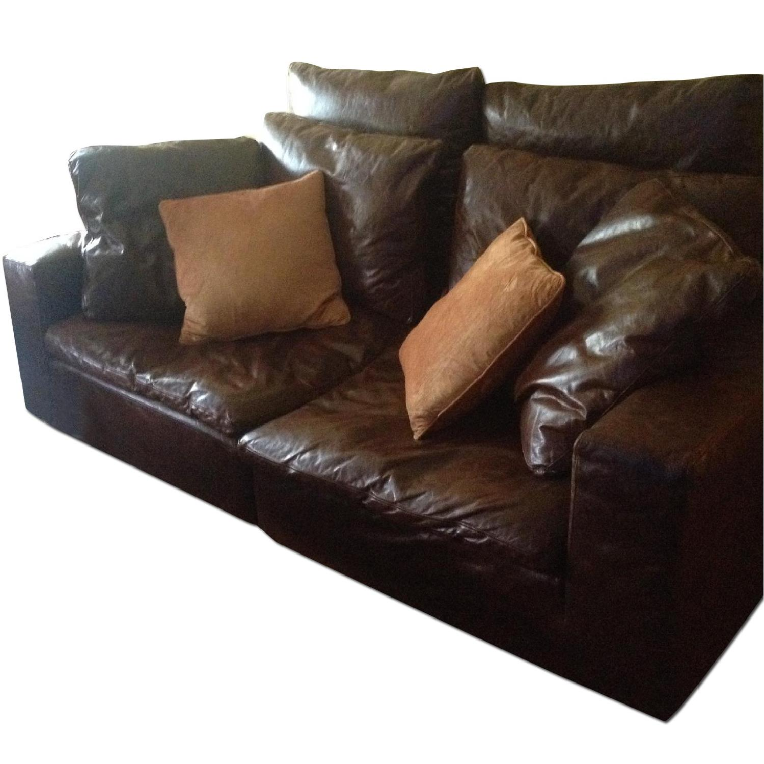 Restoration Hardware Cloud 2 Piece Sectional Sofa in Brompton Cocoa - image-0