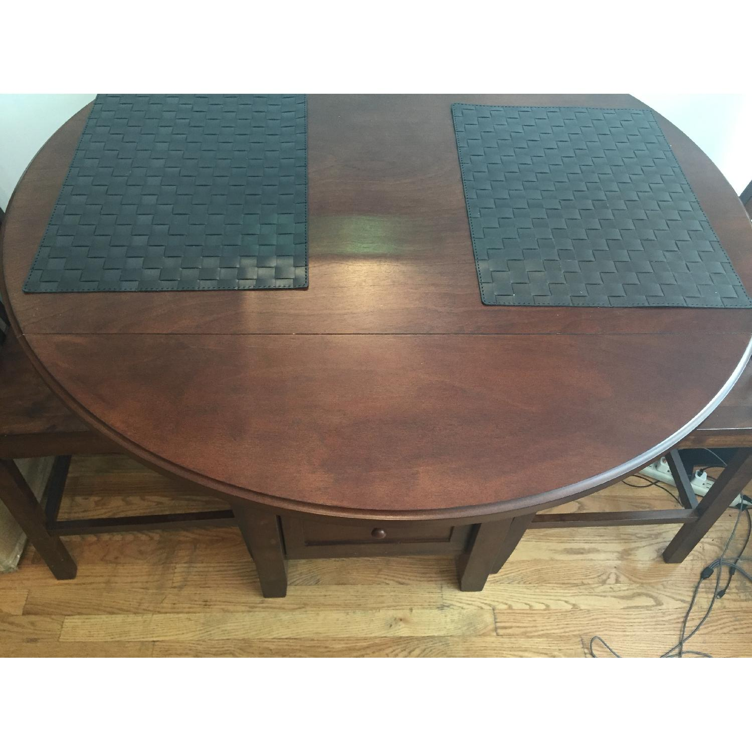 Threshold Wood High Top Table w/ 2 Chairs - image-2