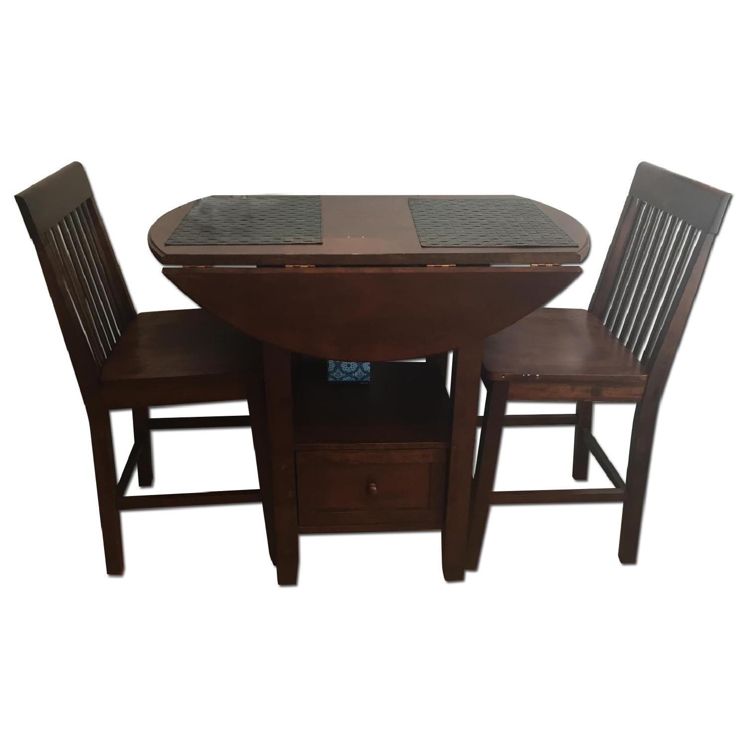 Threshold Wood High Top Table w/ 2 Chairs - image-0