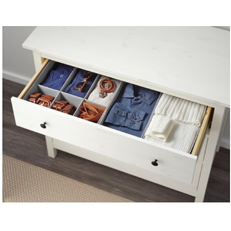 Ikea Hemnes 3-Drawer Chest w/ Mirror in White Stain - image-2