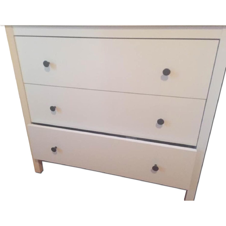 Ikea Hemnes 3-Drawer Chest w/ Mirror in White Stain - image-0