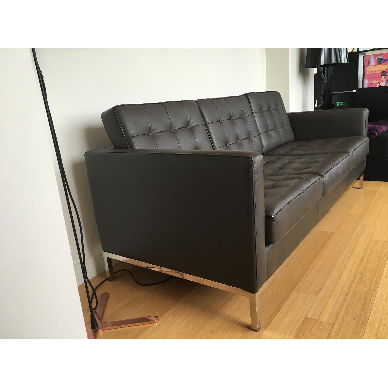 Leipzig Brown Leather Sofa - image-2