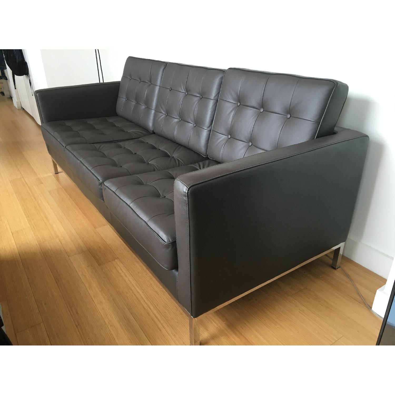 Leipzig Brown Leather Sofa - image-3