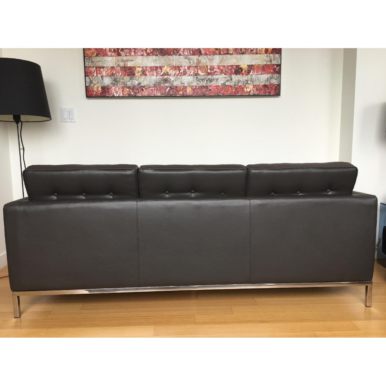 Leipzig Brown Leather Sofa - image-4