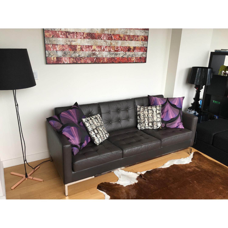Leipzig Brown Leather Sofa - image-6