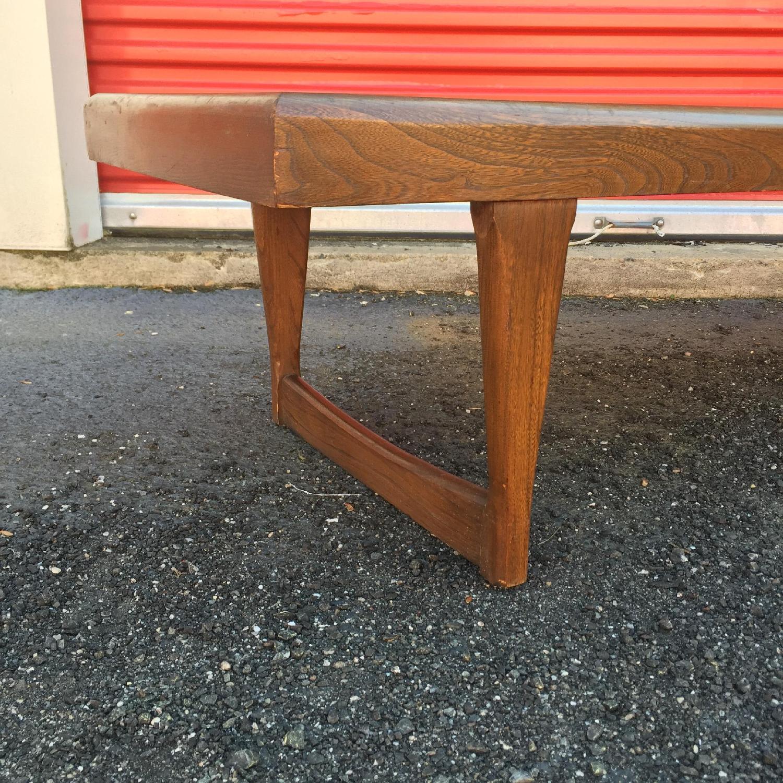 Mid Century Modern Long Walnut Coffee Table - image-1
