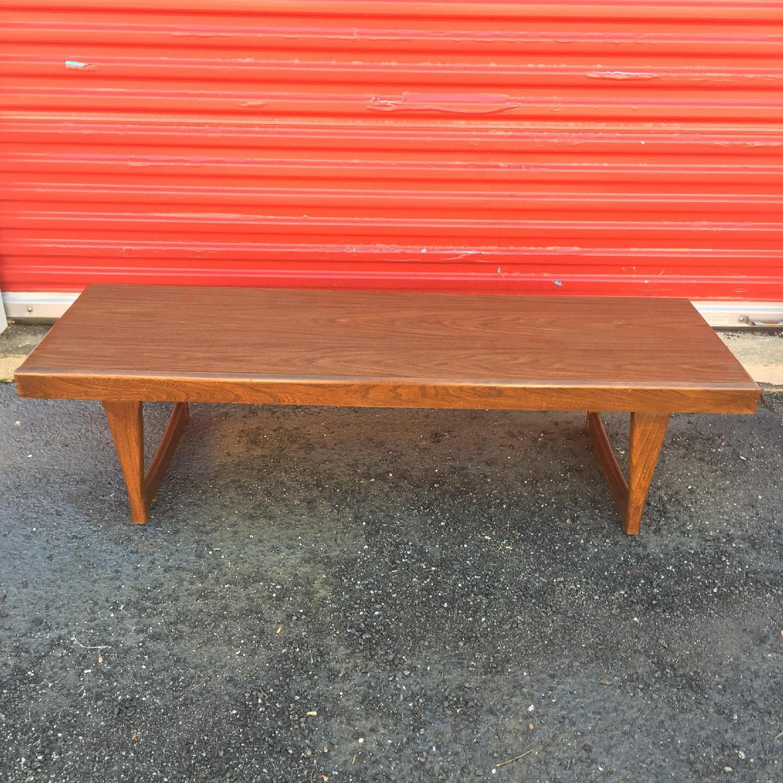 Mid Century Modern Long Walnut Coffee Table - image-2