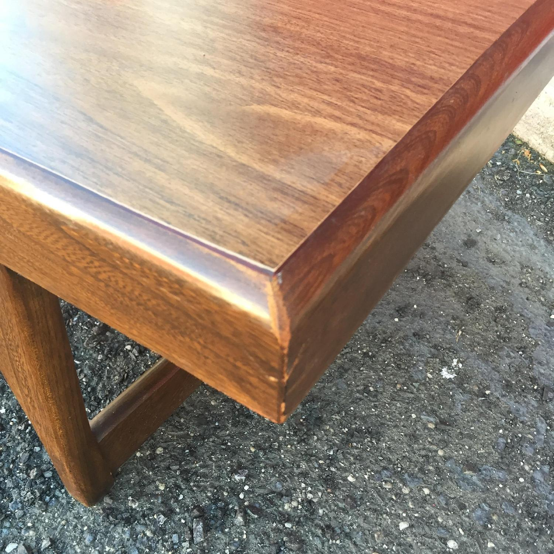 Mid Century Modern Long Walnut Coffee Table - image-6