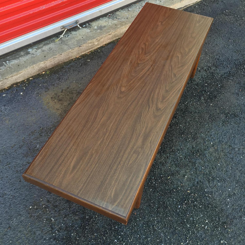 Mid Century Modern Long Walnut Coffee Table - image-7