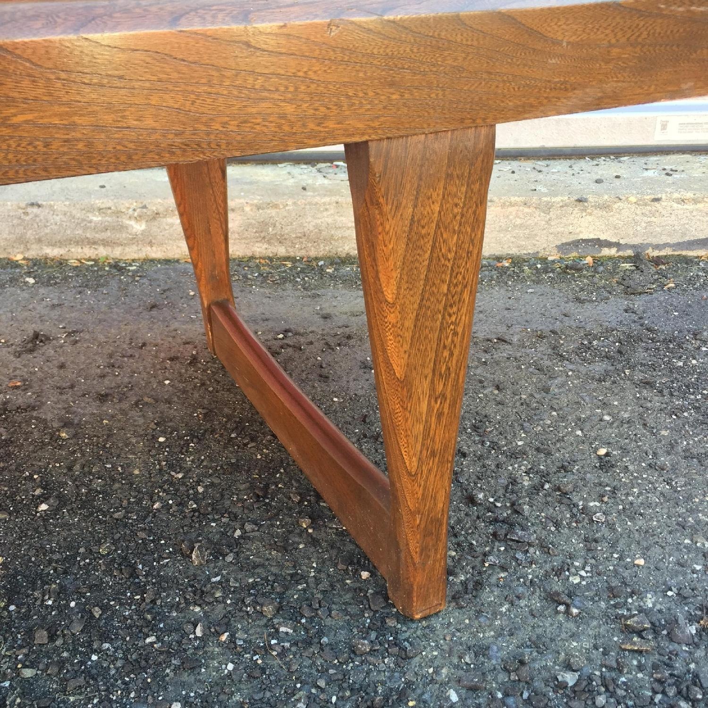 Mid Century Modern Long Walnut Coffee Table - image-8