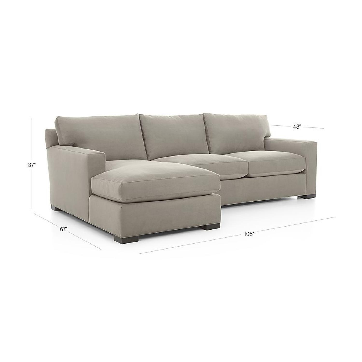 Crate & Barrel Red 2-Piece Sectional Sofa - image-1