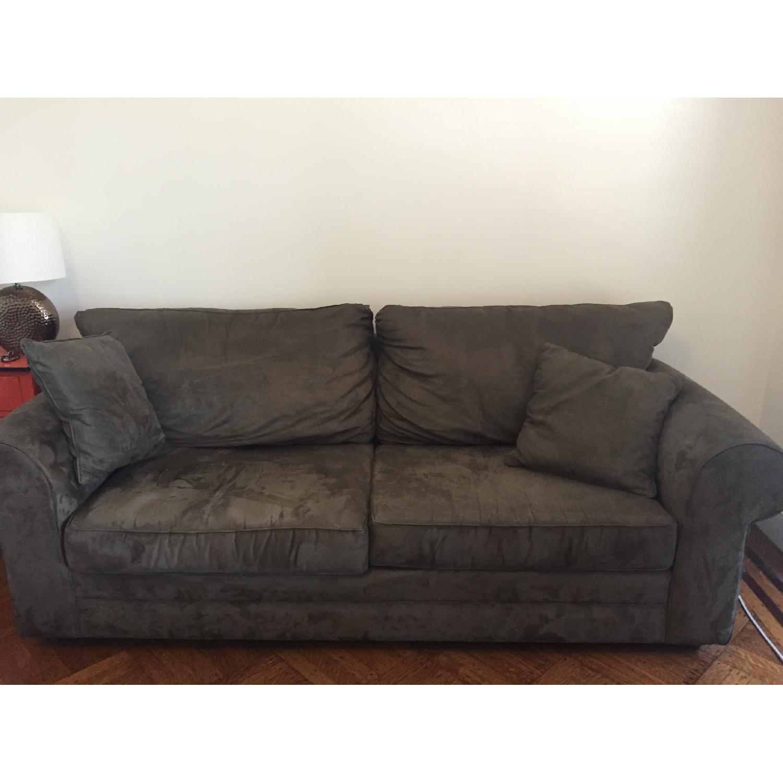 Custom-Made Microfiber Sofa in Thyme - image-1