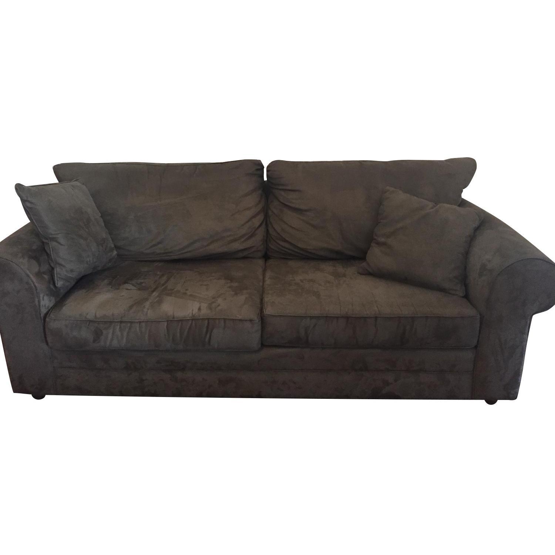 Custom-Made Microfiber Sofa in Thyme - image-0