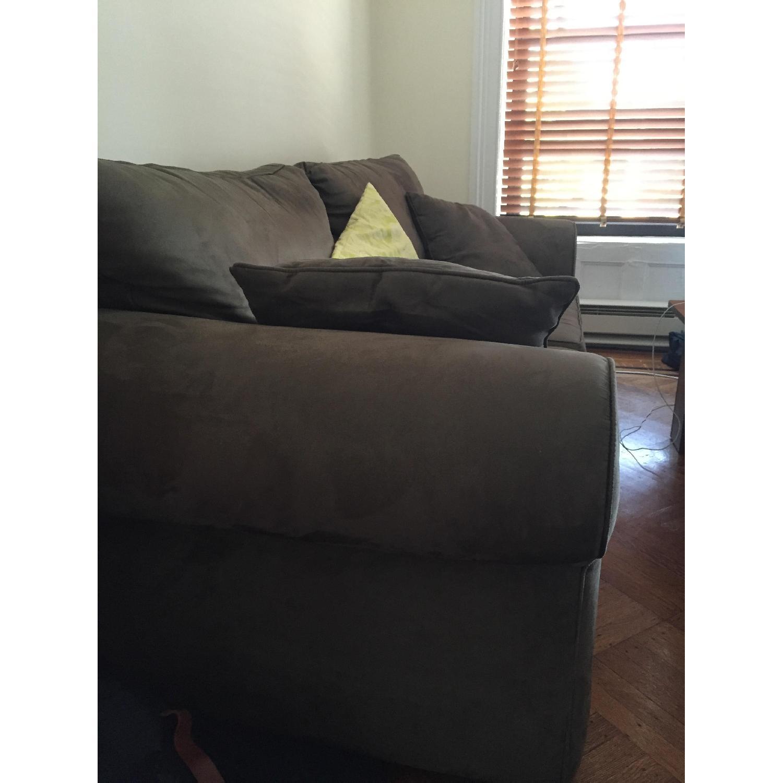 Custom-Made Microfiber Sofa in Thyme - image-2