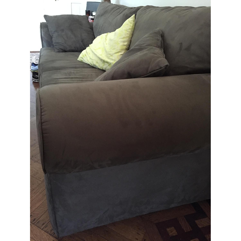 Custom-Made Microfiber Sofa in Thyme - image-3