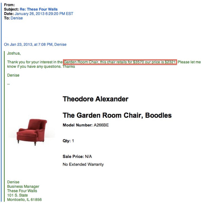Theodore Alexander Garden Room Arm-Chairs - image-8