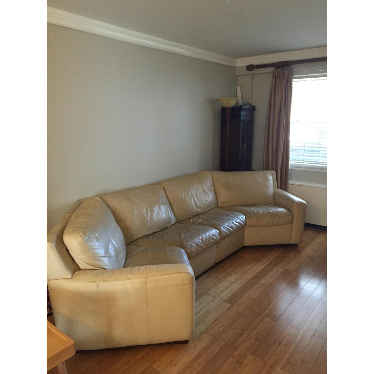 American Leather Curved 2-Piece Sectional - image-1